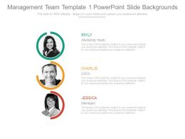 Management Team Template 1 Powerpoint Slide Backgrounds