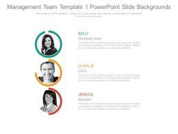 Management Team Template 1 Powerpoint Slide Backgrounds