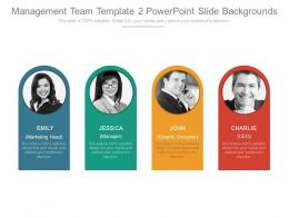 Management Team Template 2 Powerpoint Slide Backgrounds