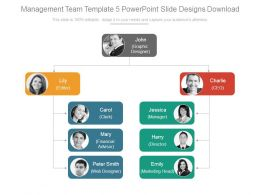 Management Team Template 5 Powerpoint Slide Designs Download