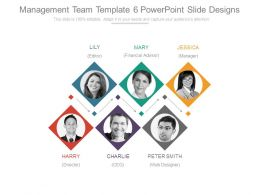 Management Team Template 6 Powerpoint Slide Designs