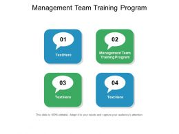 Management Team Training Program Ppt Powerpoint Presentation Model Template Cpb