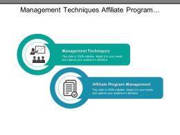 Management Techniques Affiliate Program Management Talent Management Revenue Recognition Cpb