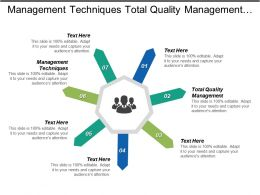 Management Techniques Total Quality Management Team Management Marketing Essential