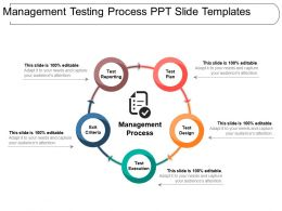 Management Testing Process Ppt Slide Templates