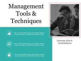 Management Tools And Techniques Powerpoint Templates