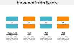 Management Training Business Ppt Powerpoint Presentation Graphics Cpb