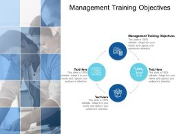 Management Training Objectives Ppt Powerpoint Presentation Pictures Cpb