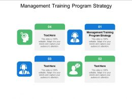 Management Training Program Strategy Ppt Powerpoint Presentation Outline Background Cpb