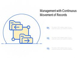Management With Continuous Movement Of Records