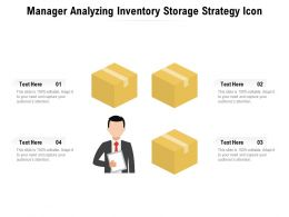 Manager Analyzing Inventory Storage Strategy Icon