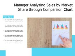Manager Analyzing Sales By Market Share Through Comparison Chart
