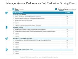 Manager Annual Performance Self Evaluation Scoring Form