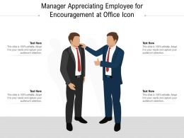 Manager Appreciating Employee For Encouragement At Office Icon