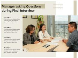 Manager Asking Questions During Final Interview