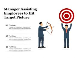 Manager Assisting Employees To Hit Target Picture