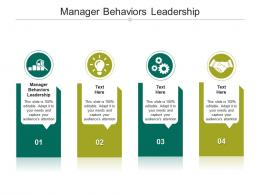 Manager Behaviors Leadership Ppt Powerpoint Presentation Professional Shapes Cpb