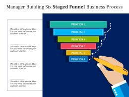 Manager Building Six Staged Funnel Business Process