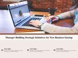 Manager Building Strategic Initiatives For New Business Startup