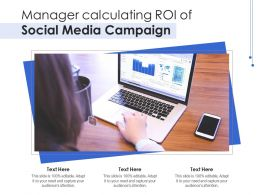 Manager Calculating ROI Of Social Media Campaign