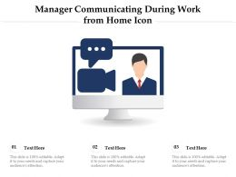 Manager Communicating During Work From Home Icon
