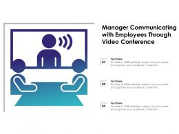 Manager Communicating With Employees Through Video Conference