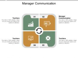 Manager Communication Ppt Powerpoint Presentation Professional Icons Cpb