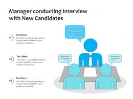 Manager Conducting Interview With New Candidates