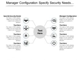 Manager Configuration Specify Security Needs Manage Project Risk