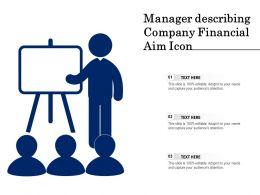 Manager Describing Company Financial Aim Icon