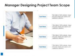 Manager Designing Project Team Scope