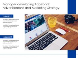 Manager Developing Facebook Advertisement And Marketing Strategy