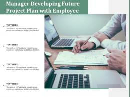 Manager Developing Future Project Plan With Employee