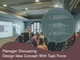 Manager Discussing Design Idea Concept With Task Force