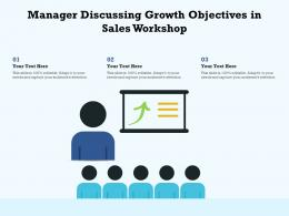 Manager Discussing Growth Objectives In Sales Workshop
