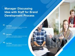 Manager Discussing Idea With Staff For Brand Development Process