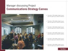 Manager Discussing Project Communications Strategy Canvas