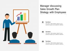 Manager Discussing Sales Growth Plan Strategy With Employees