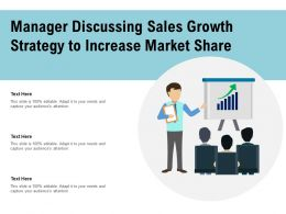 Manager Discussing Sales Growth Strategy To Increase Market Share