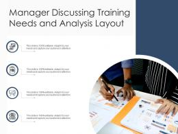 Manager Discussing Training Needs And Analysis Layout
