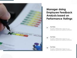 Manager Doing Employee Feedback Analysis Based On Performance Ratings