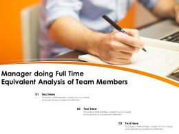 Manager Doing Full Time Equivalent Analysis Of Team Members