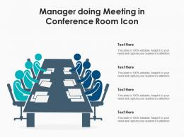 Manager Doing Meeting In Conference Room Icon