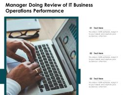 Manager Doing Review Of IT Business Operations Performance