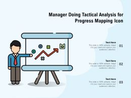 Manager Doing Tactical Analysis For Progress Mapping Icon