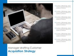 Manager Drafting Customer Acquisition Strategy