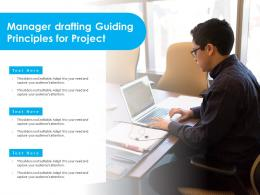 Manager Drafting Guiding Principles For Project