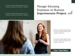 Manager Educating Employees On Business Improvement Project