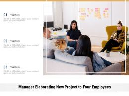 Manager Elaborating New Project To Four Employees