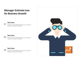 Manager Estimate Icon For Business Growth